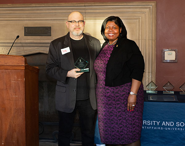 Jay Rosenstein with Vice Chancellor for Student Affairs Danita M. B. Young