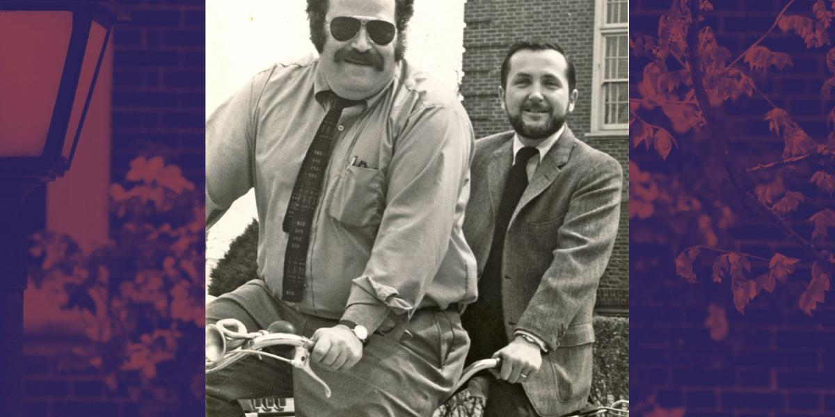 Ziff and Carey on tandem bike