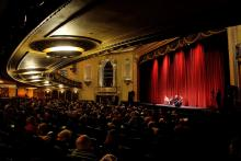 interior of the Virginia theater where Ebertfest is hosted